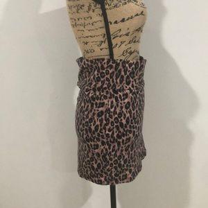 Charlotte Russe Skirts - Cheetah print high waisted stretch mini skirt